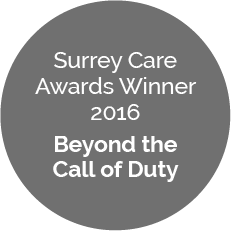 Surrey Care Awards Winner 2016 – Beyond the Call of Duty Awards