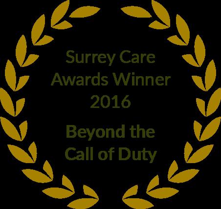 Surrey Care Awards Winner 2016