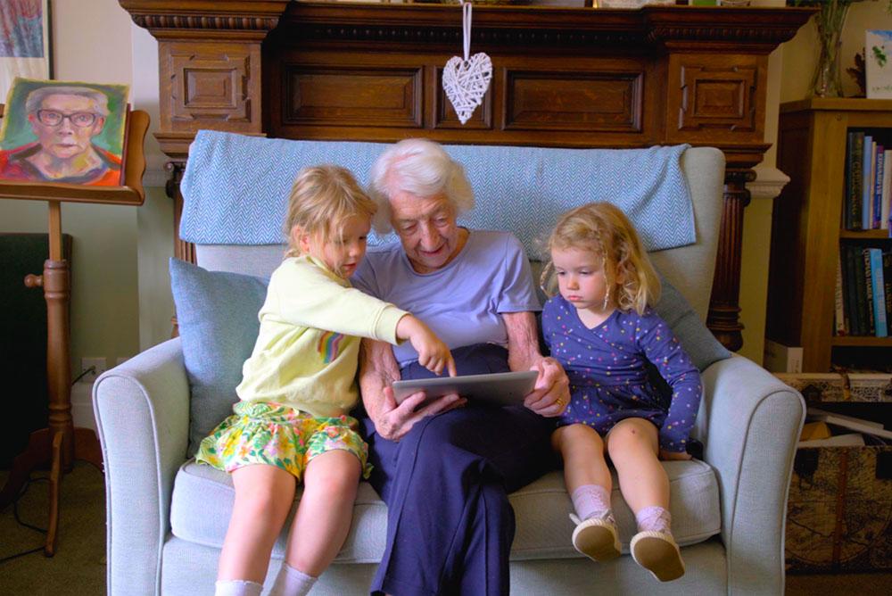 Resident Molly With Her Grandchildren
